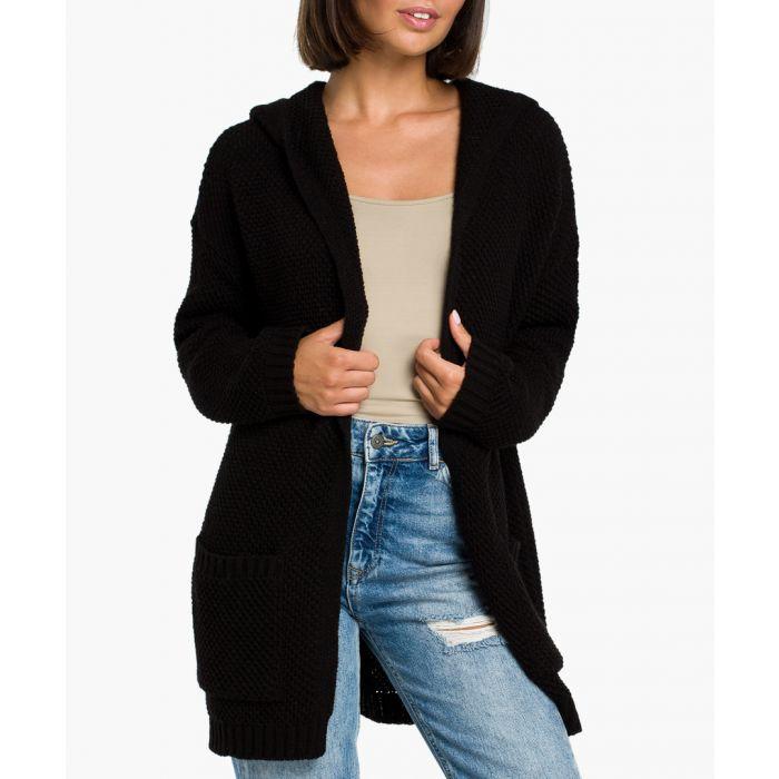 Image for Black wool blend cardigan