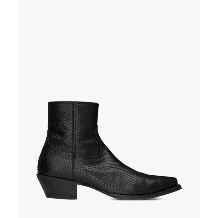 Image for Lukas black python leather boots