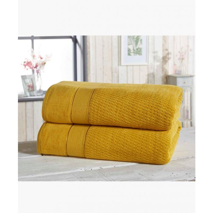 Image for 2pc ochre cotton towels