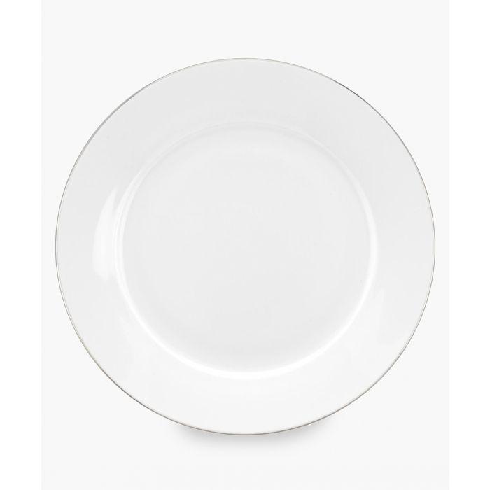 Image for 4pc Serendipity platinum band bone china side plates