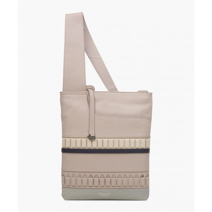 Image for Dove grey medium zip-top crossbody