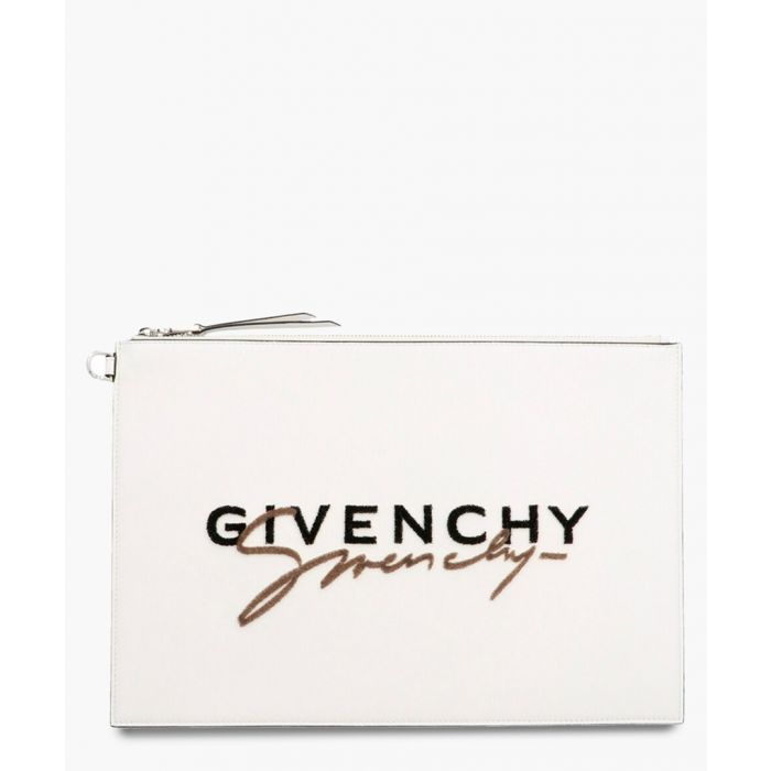 Image for Signature white logo clutch