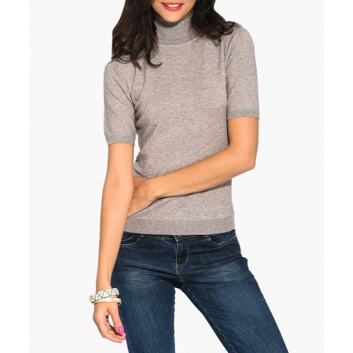 Image for Camel cashmere and silk blend jumper