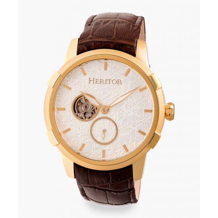 Image for Heritor Automatic Callisto brown watch