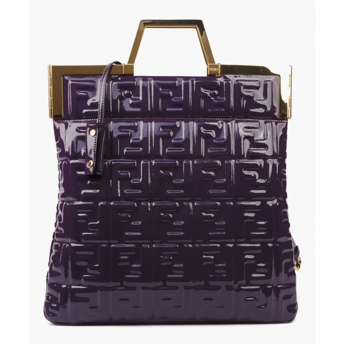 Image for Purple monogram vinyl bag