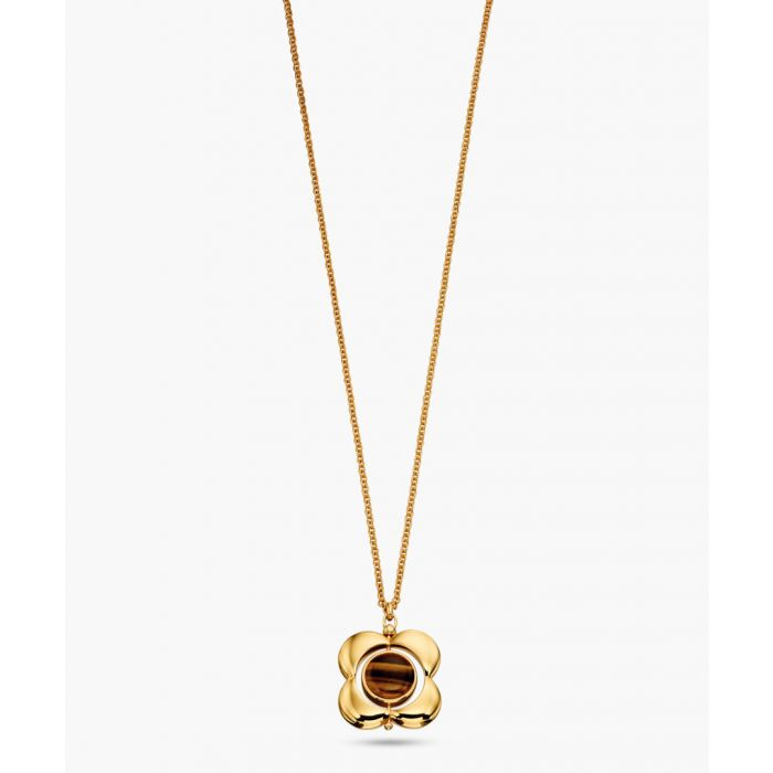 Image for 14k Gold-plated tigers eye necklace
