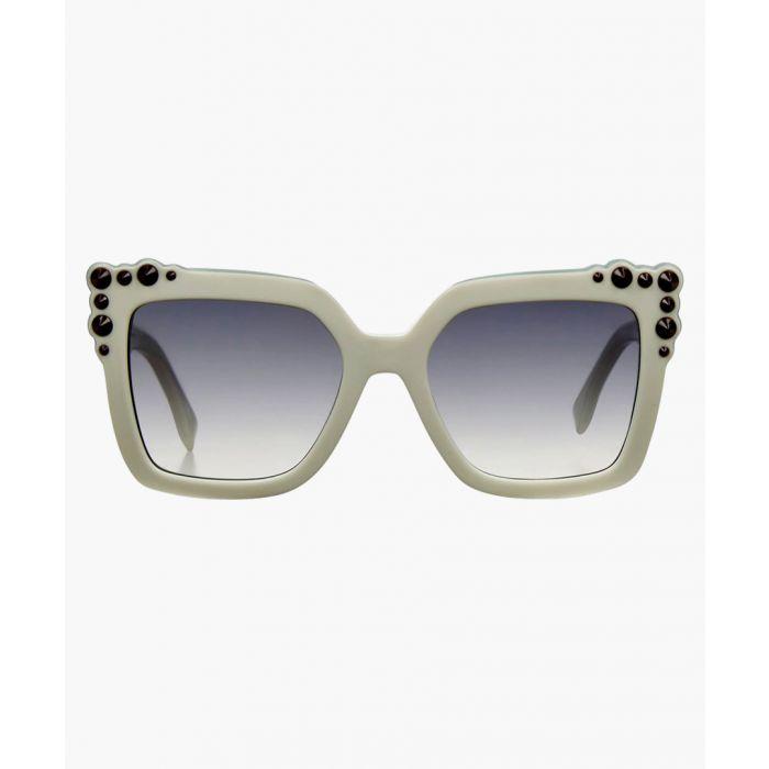 Image for Fendi SUNGLASSES White Light Turquoise / Grey Shaded