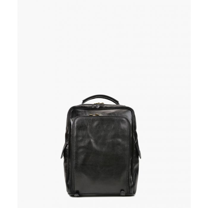 Image for Black leather shoulder bag