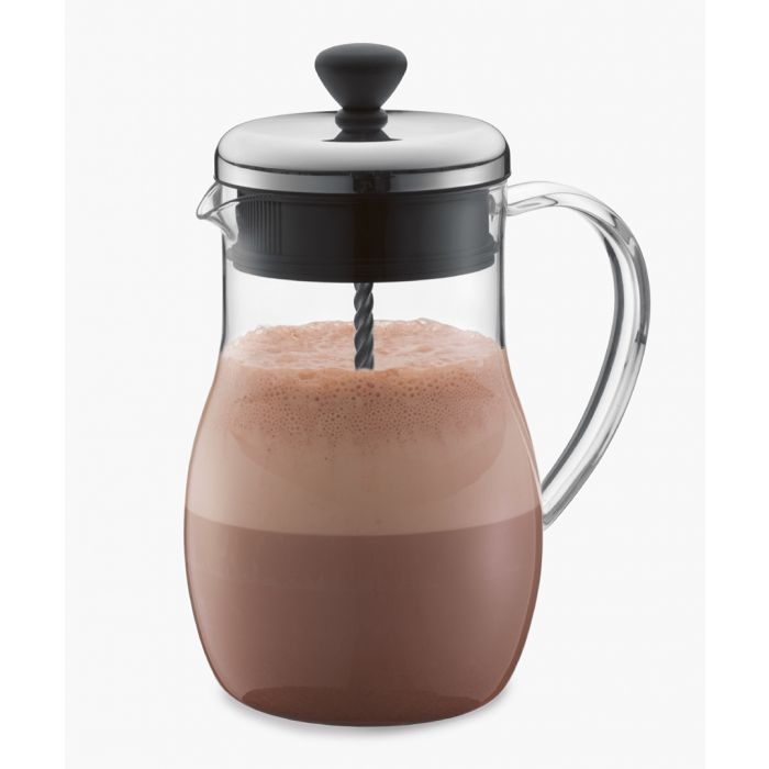 Image for Silver-tone clear chocolate jug 1.0L