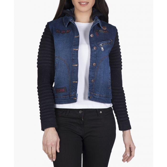 Image for Blue cotton-blend coat