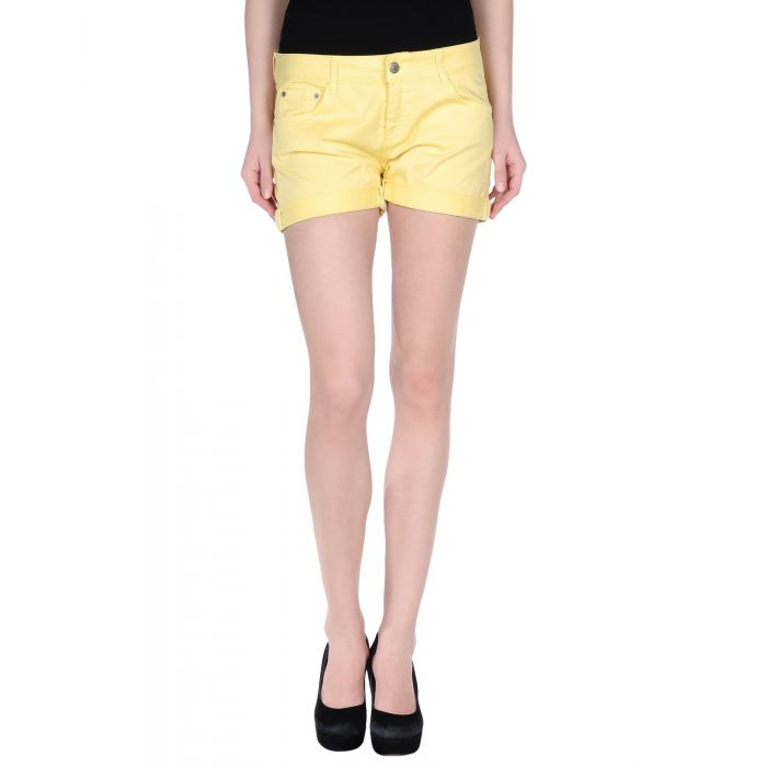 Image for Yellow denim shorts