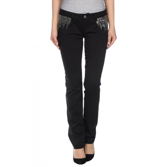 Image for Black cotton casual trousers
