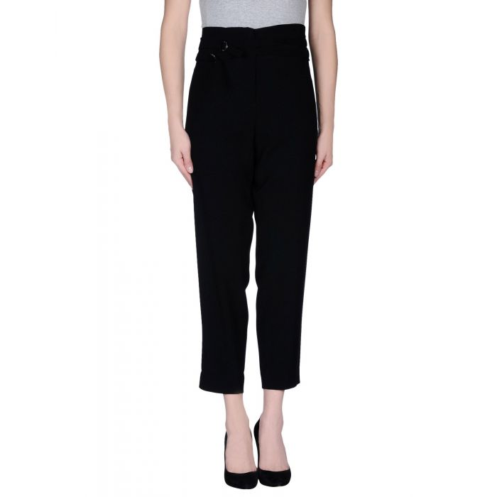 Image for Black viscose casual trousers