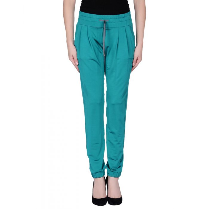 Image for Turquoise viscose casual trousers