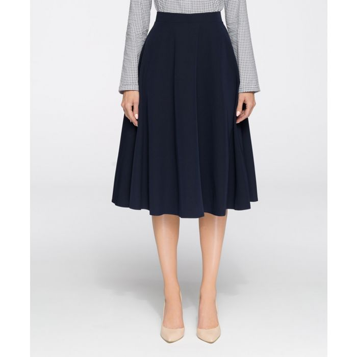 Image for Navy pleated skirt