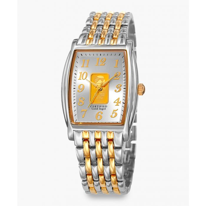 Image for Silver and gold-tone stainless steel watch