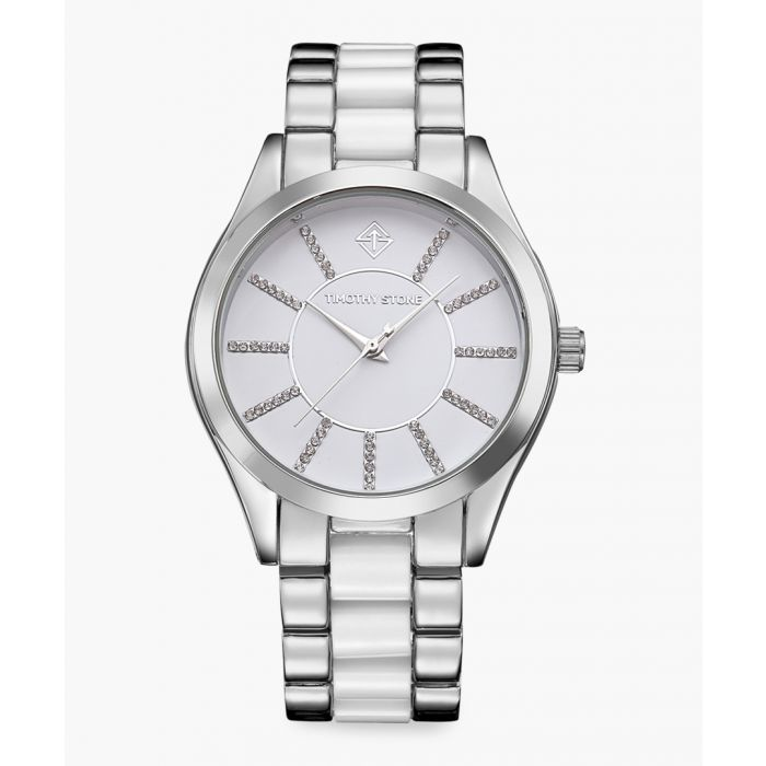 Image for Charme  silver-tone and white watch