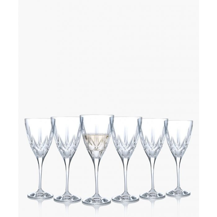 Image for 6pc Chic Luxion Crystal White wine glasses 280ml
