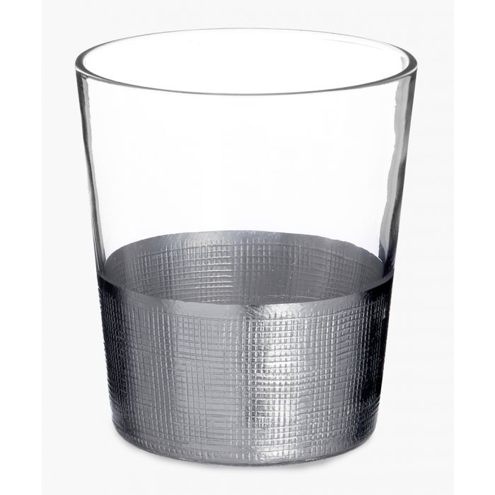 Image for 4pc Apollo silver-tone crosshatched tumblers