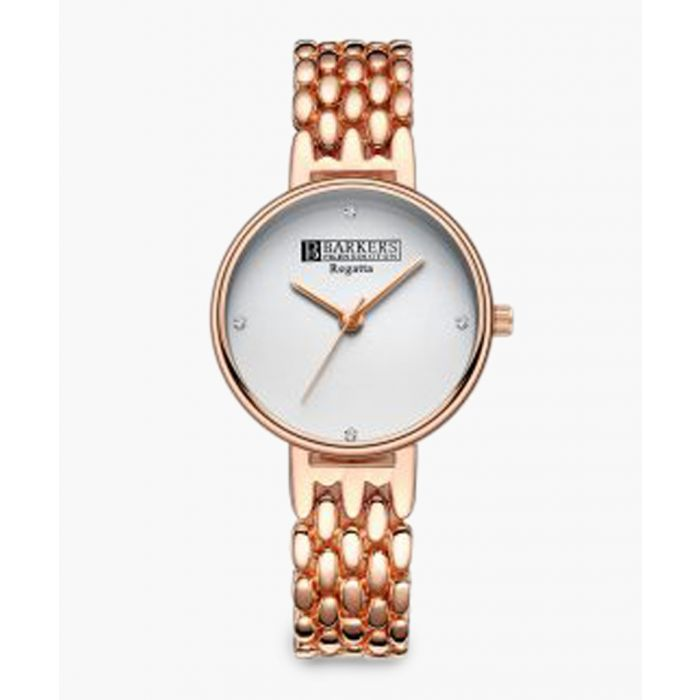 Image for Automatic rose gold-plated and white watch