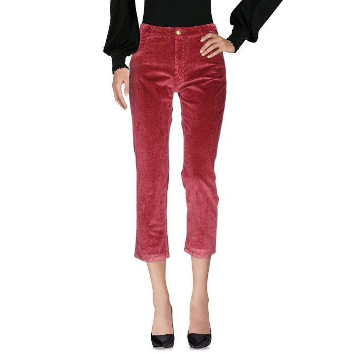 Image for Red cotton blend trousers