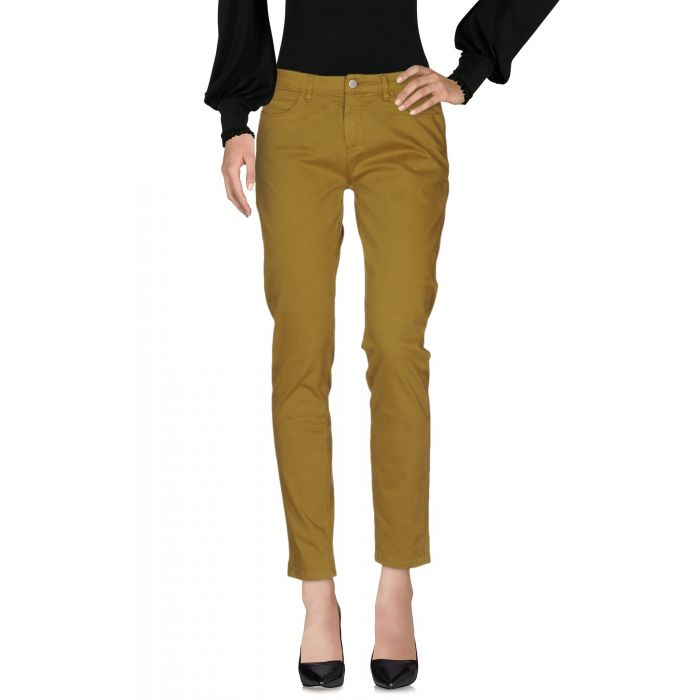 Image for Green cotton mid-rise trousers