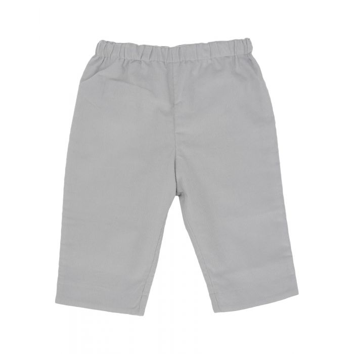 Image for Light grey cotton casual trousers