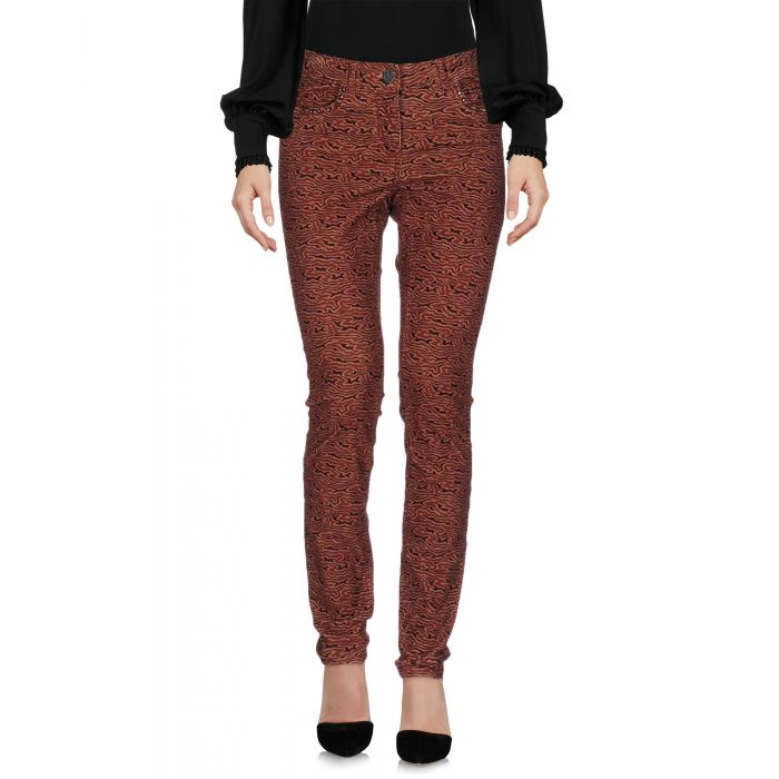 Image for Brick red cotton casual trousers