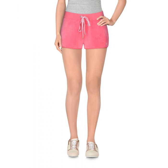 Image for Fuchsia cotton blend shorts