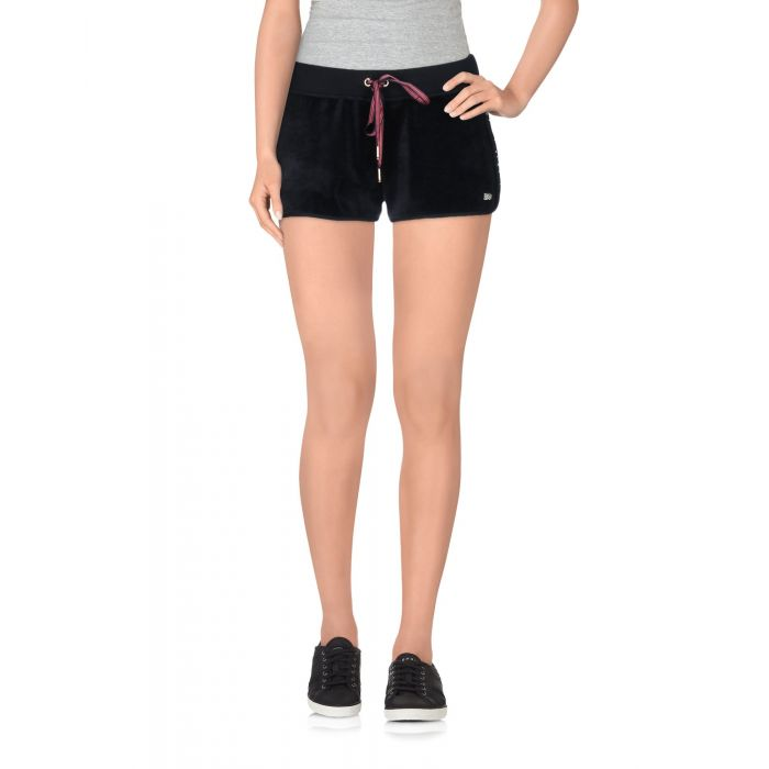 Image for Blue cotton blend shorts