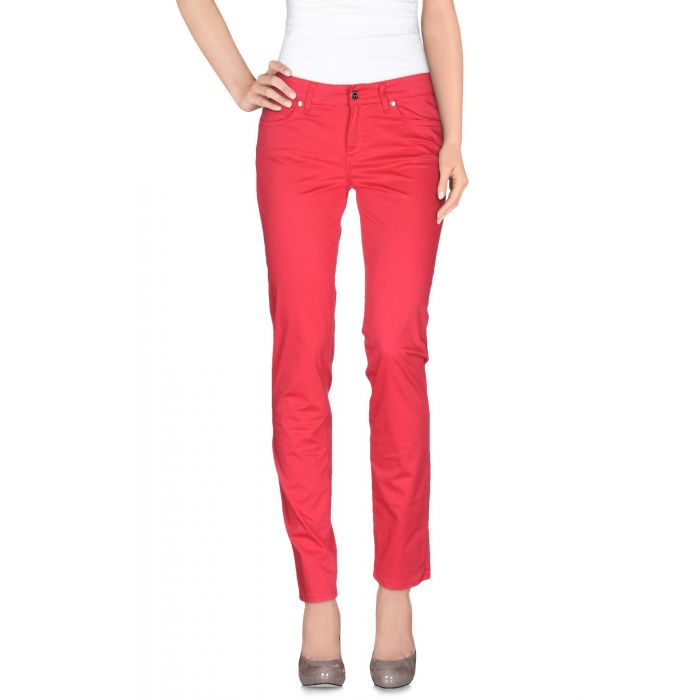 Image for Pink cotton casual trousers