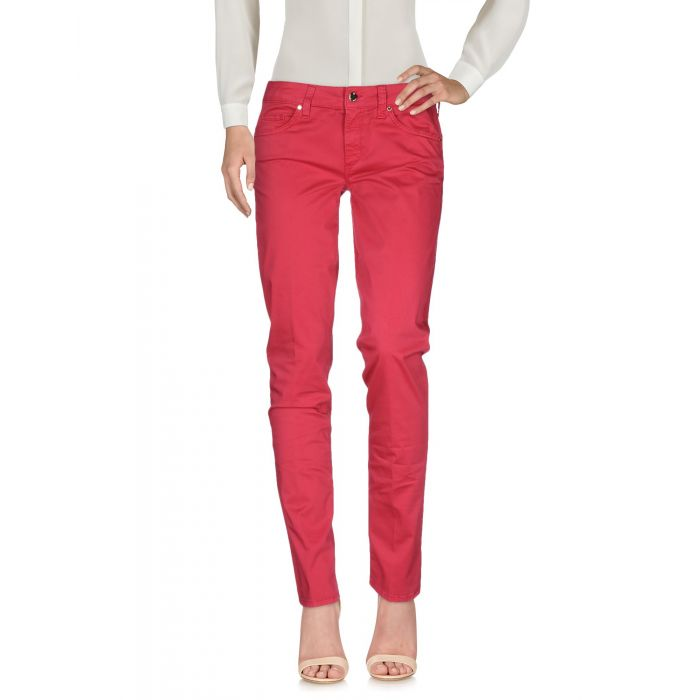Image for Fuchsia cotton casual trousers