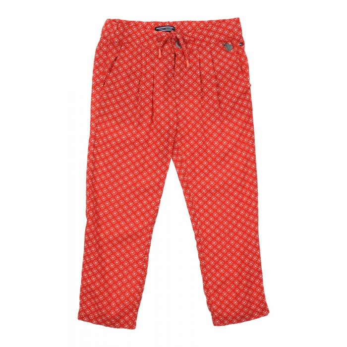 Image for Red modal casual trousers