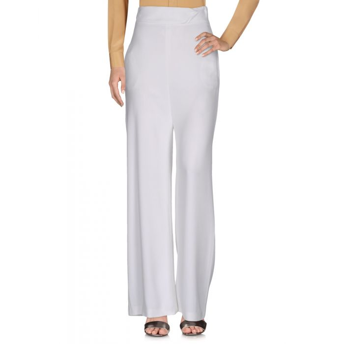 Image for White high-rise trousers