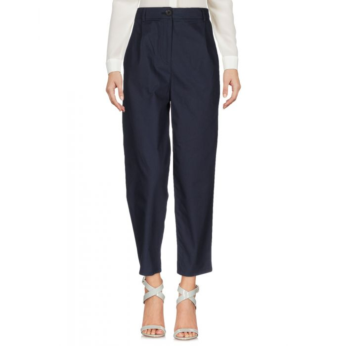 Image for Dark blue cotton casual trousers