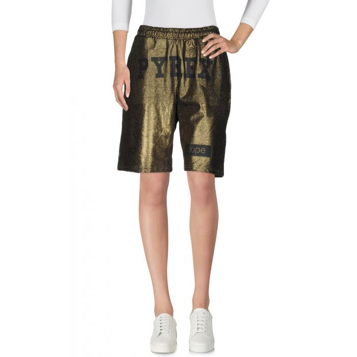 Image for Pyrex Woman Gold Bermuda shorts