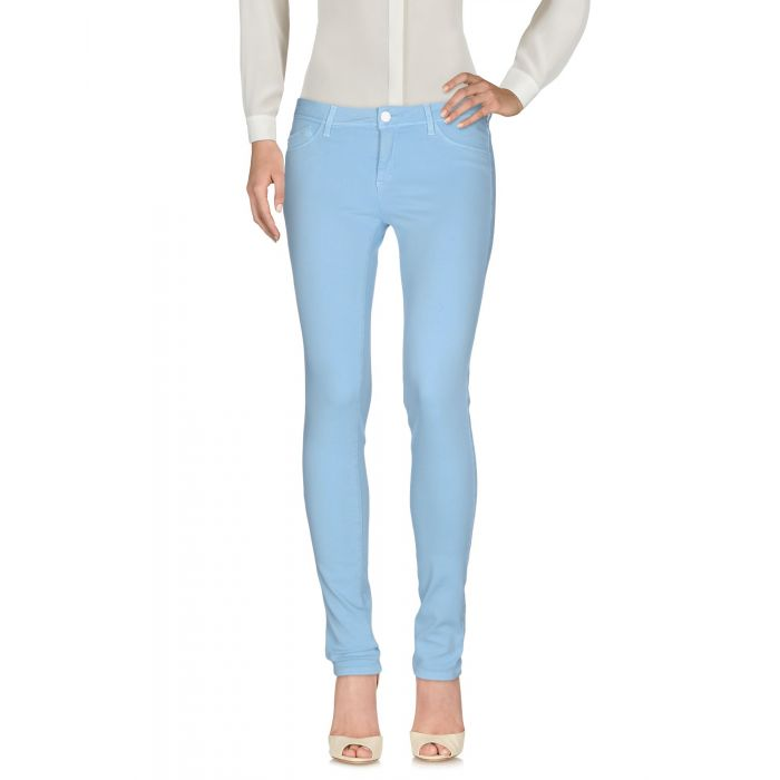 Image for Blue cotton blend low-rise trousers