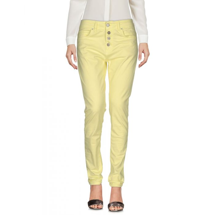 Image for Yellow cotton casual trousers