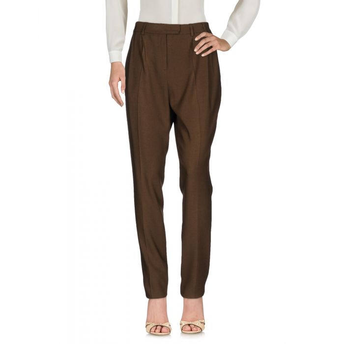 Image for Khaki wool blend trousers
