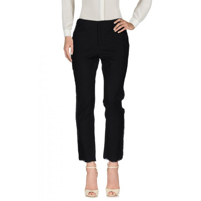 Image for Black natural fibre casual trousers