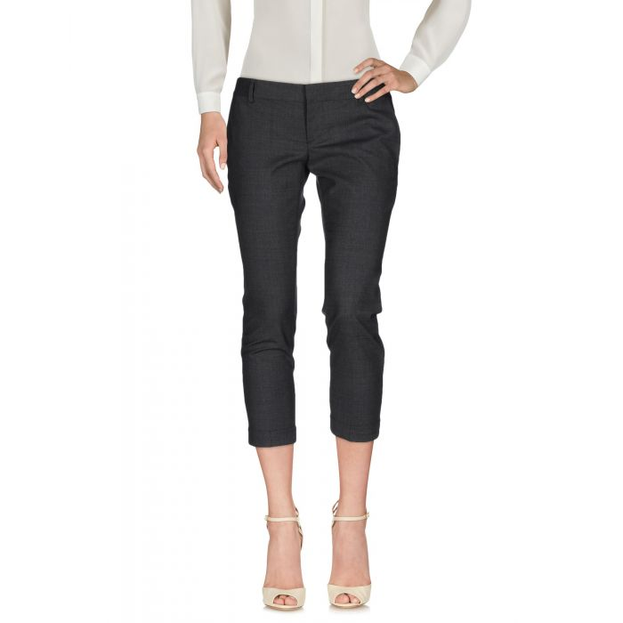 Image for Grey low-rise stretch-wool blend cropped trousers