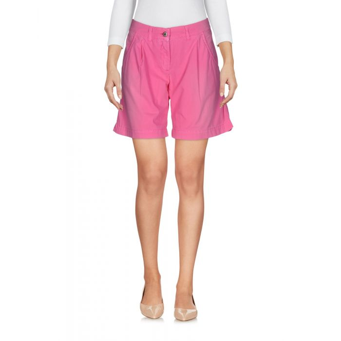 Image for Fuchsia pure cotton mid-rise trousers