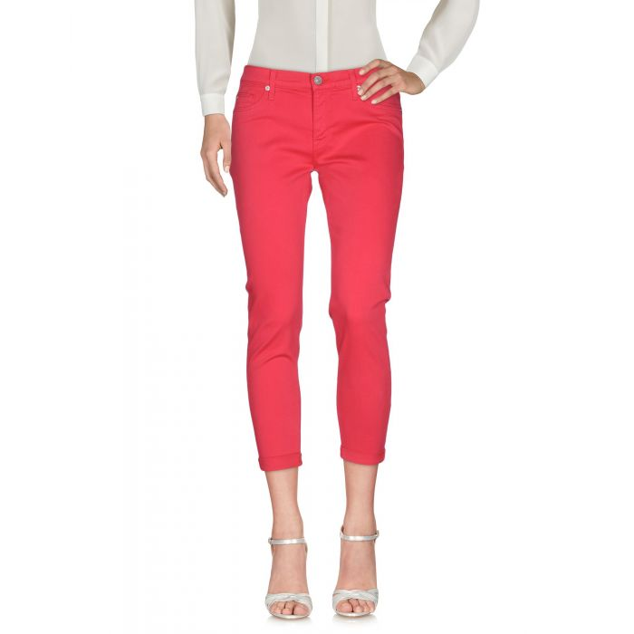 Image for Fuchsia cotton cropped trousers
