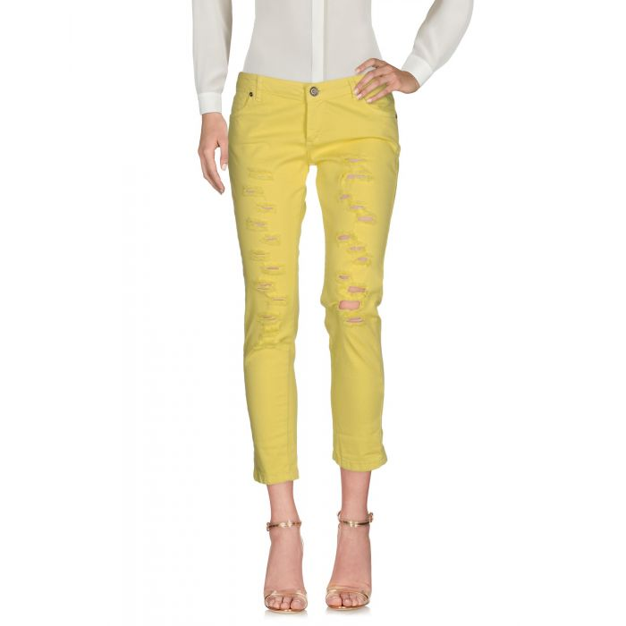 Image for Miss Miss Woman Yellow 3/4-length trousers
