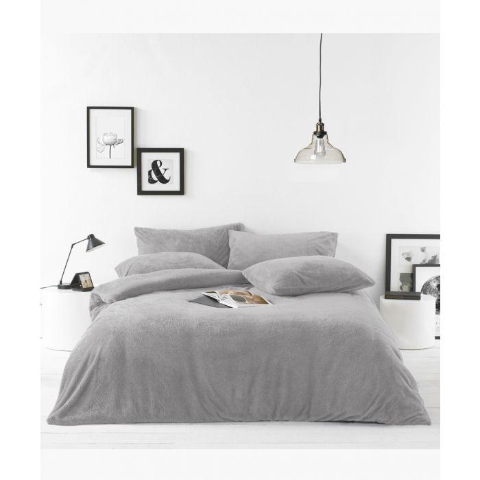 Image for Grey single duvet cover set