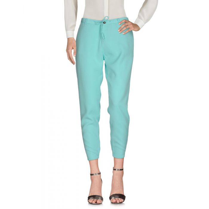 Image for Light green lyocell casual trousers