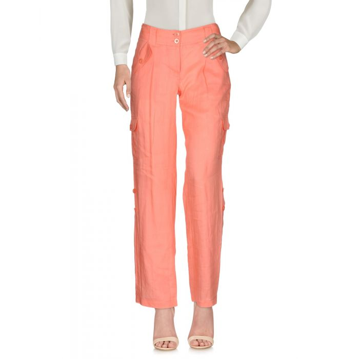 Image for Salmon pink ramie casual trousers