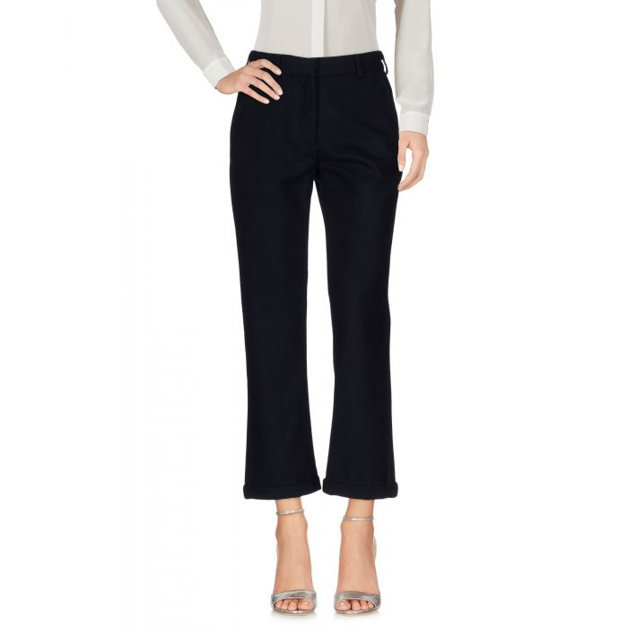 Image for Dark blue wool mid-rise trousers