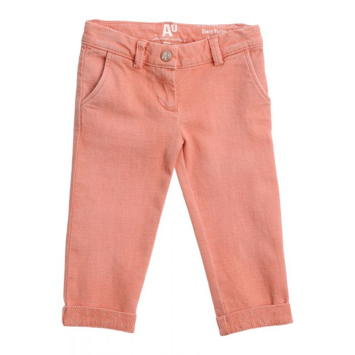 Image for Coral stretch-cotton trousers