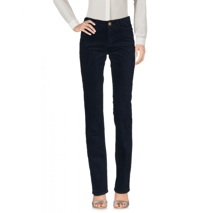 Image for Blue cotton mid-rise trousers